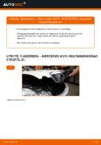 Byta Fjädrar bak och fram AUDI A2: guide pdf