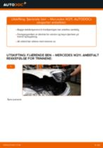 Skifte fjærende ben fremme: Mercedes W211 | Steg for steg