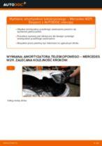 Wymiana: amortyzatora teleskopowego przód >> Mercedes W211 | Poradnik krok po kroku