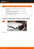 Samm-sammuline PDF-juhend Audi 80 b4 Pidurisadul asendamise kohta