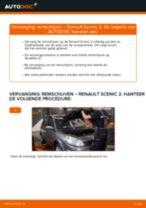 achter en vóór Remschijven RENAULT SCÉNIC II (JM0/1_) | PDF tutorial voor vervanging