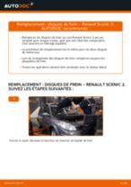 Comment changer Disque de frein arrière et avant RENAULT SCÉNIC II (JM0/1_) - manuel en ligne