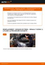 Tutoriel PDF étape par étape sur le changement de Disques De Frein sur RENAULT SCÉNIC II (JM0/1_)