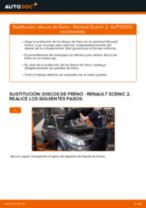 Tutorial paso a paso en PDF sobre el cambio de Pastillas De Freno en RENAULT SCÉNIC II (JM0/1_)
