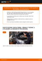 RENAULT SCÉNIC II (JM0/1_) Dischi Freno sostituzione: tutorial PDF passo-passo