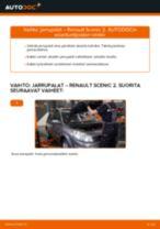 Ohjaustehostinöljy vaihto: RENAULT SCÉNIC pdf oppaat