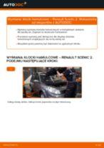 Montaż Zestaw klocków hamulcowych RENAULT SCÉNIC II (JM0/1_) - przewodnik krok po kroku