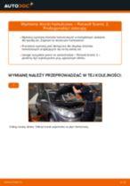 Jak wymienić i wyregulować Komplet klocków hamulcowych RENAULT SCÉNIC: poradnik pdf