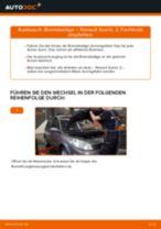 RENAULT SCÉNIC II (JM0/1_) Glühkerzen wechseln Dieselmotor Anleitung pdf