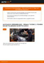 Austauschen von Scheibenbremsbeläge RENAULT SCÉNIC: PDF kostenlos