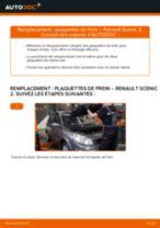 Comment changer Kit de plaquettes de frein arrière et avant RENAULT SCÉNIC II (JM0/1_) - manuel en ligne