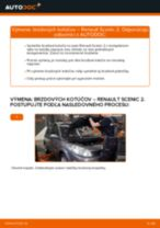 Výmena Hlava / čap spojovacej tyče riadenia RENAULT SCÉNIC: dielenská príručka
