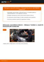 Brezplačna spletna navodila kako obnoviti Zavorni kolut RENAULT SCÉNIC II (JM0/1_)