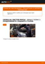 Кога да сменя Многоклинов(пистов) ремък на RENAULT SCÉNIC II (JM0/1_): ръководство pdf