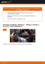 PDF keitimo instrukcija: Stabdžių trinkelių rinkinys, diskinis stabdys RENAULT SCÉNIC II (JM0/1_) gale ir priekyje