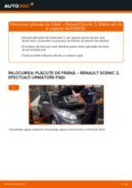 Tutorialul etapizat în format PDF pentru înlocuirea Placute Frana la RENAULT SCÉNIC II (JM0/1_)