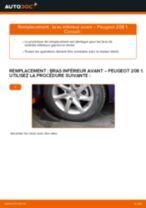 Changement Bras transversal arrière et avant PEUGEOT 208 : tutoriel en ligne