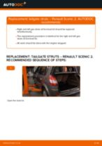 Online manual on changing Air Filter yourself on RENAULT SCÉNIC II (JM0/1_)
