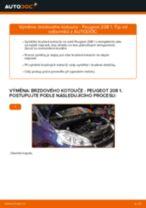 Příručka pro odstraňování problémů PEUGEOT 208