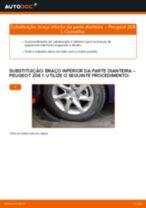 Substituir Braço oscilante suspensão da roda esquerdo e direito PEUGEOT 208: tutorial online