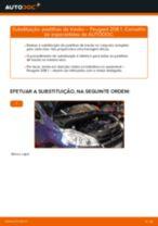 Substituir Calços de travão dianteiro e traseira PEUGEOT 208: tutorial online