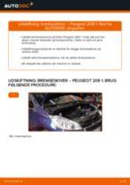 Online gratis instruktioner hvordan skifter man Bremseskiver PEUGEOT 208