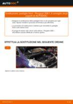 Cambio Kit pastiglie freno posteriore e anteriore PEUGEOT da soli - manuale online pdf