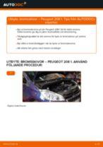 Steg-för-steg PEUGEOT 208 II Schrägheck (UB_, UP_, UW_, UJ_) reparationsguide
