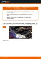 Skifte Bremsekloss PEUGEOT 208: gratis pdf