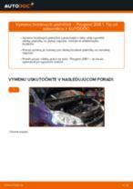 Výmena zadné vľavo vpravo Mechanizmus Stieračov PEUGEOT 208: online návod