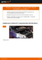 Brezplačna spletna navodila kako obnoviti Zavorne Ploščice PEUGEOT 208