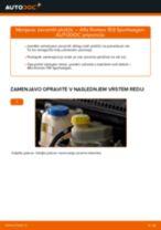 Menjava zadaj in spredaj Zavorne Ploščice ALFA ROMEO 159: spletni vodič