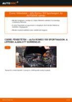 Lépésről-lépésre PDF-útmutató - ALFA ROMEO 159 Sportwagon (939) Fékbetét csere