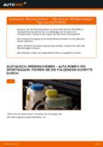 Austauschen von Bremsscheibe Anweisung PDF für ALFA ROMEO 159
