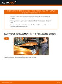 How to carry out replacement: Brake Shoes on 1.2 Fiat Panda 169