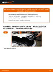 Kaip atlikti keitimą: E 220 CDI 2.2 (211.006) Mercedes W211 Amortizatorius