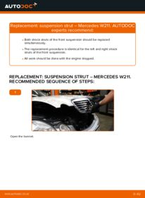 How to carry out replacement: Shock Absorber on MERCEDES-BENZ E-CLASS