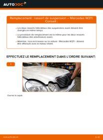 Comment effectuer un remplacement de Ressort d'Amortisseur sur E 220 CDI 2.2 (211.006) Mercedes W211