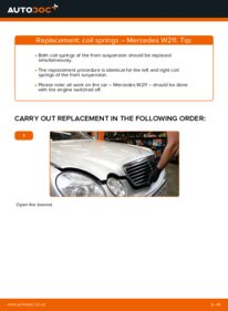 How to carry out replacement: Springs on E 220 CDI 2.2 (211.006) Mercedes W211