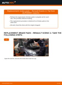 How to carry out replacement: Brake Pads on 1.9 dCi Renault Scenic 2