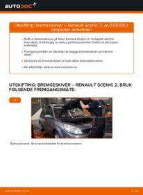 Slik bytter du Bremseskiver på RENAULT SCÉNIC
