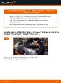 Wie der Wechsel durchführt wird: Bremsbeläge 1.9 dCi Renault Scenic 2 tauschen