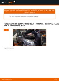 How to carry out replacement: Poly V-Belt on 1.9 dCi Renault Scenic 2