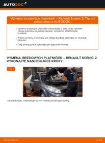 Ako vykonať výmenu: Brzdové Platničky na 1.9 dCi Renault Scenic 2