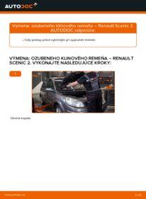 Ako vykonať výmenu: Klinový rebrovaný remen na 1.9 dCi Renault Scenic 2