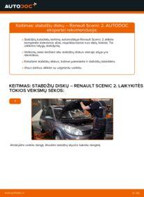Kaip atlikti keitimą: 1.9 dCi Renault Scenic 2 Stabdžių diskas