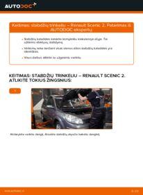 Kaip atlikti keitimą: 1.9 dCi Renault Scenic 2 Stabdžių Kaladėlės