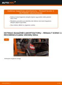 Kaip atlikti keitimą: 1.9 dCi Renault Scenic 2 Bagazines Amortizatorius