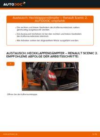 Wie der Wechsel durchführt wird: Heckklappendämpfer Renault Scenic 2 1.9 dCi 1.5 dCi 1.6 tauschen
