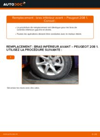 Comment effectuer un remplacement de Bras de Suspension sur 1.4 HDi Peugeot 208 1